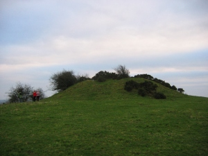 The cairn-mound at the top of Sheebeg