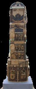 """""""Lugh, lord of all crafts"""" - a ceramic sculpture by Daniel Cullen"""